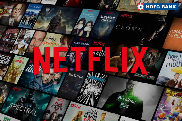 3 Months Netflix free with HDFC Bank Credit Cards