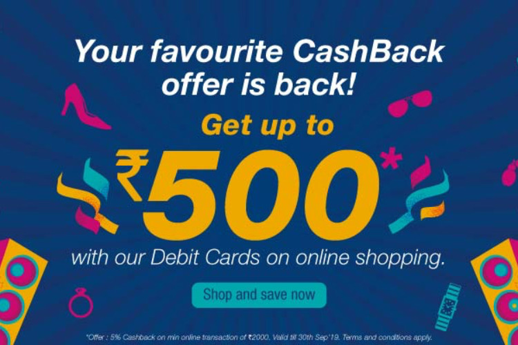 5% cashback on online spends with HDFC Debit Cards