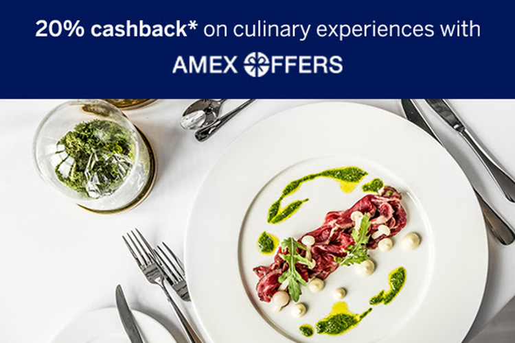 Amex Dining Offer: 20% cashback on selected restaurants