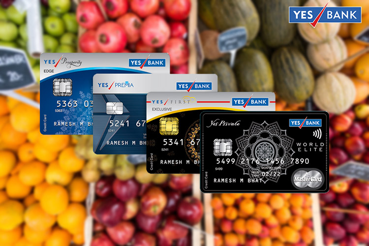 Double reward points on Grocery Shopping with Yes Bank Credit Cards