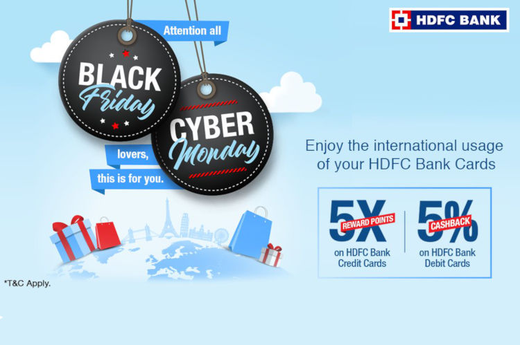 HDFC Bank Black Friday & Cyber Monday Offer: 5X rewards on Credit Cards & 5% cashback on Debit Cards