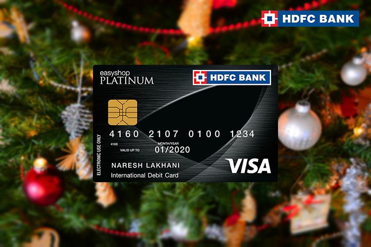 HDFC Bank Debit Card Christmas Offer