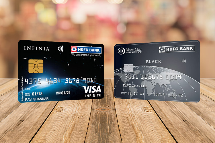 HDFC Infinia vs Diners Club Black: An in-depth comparison