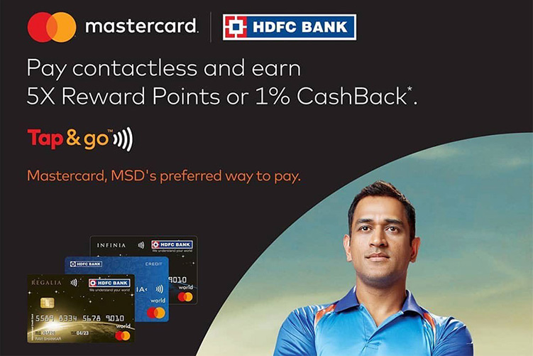 5X Rewards or 1% Cashback on HDFC Mastercard Cards using Tap n Pay