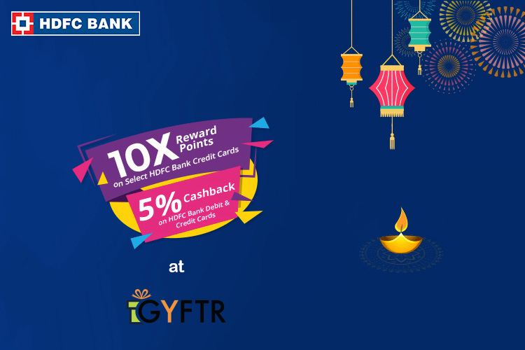 10X Rewards on Gift Vouchers using HDFC Bank Credit Cards