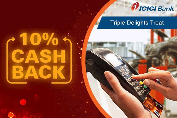 ICICI Triple Delights Offer: 10% Cashback on Debit Cards