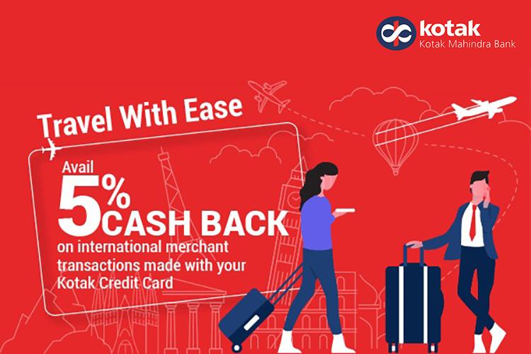 Kotak Credit Cards: 5% cashback on International Spends