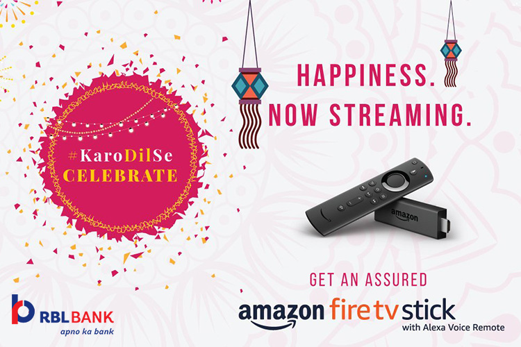 RBL Bank Credit Cards: Get Amazon Fire TV Stick on festive spends