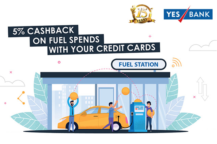 Yes Bank Fuel Offer: 5% cashback on fuel spends with credit cards